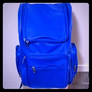 BlacTagz  Blue Quality Leather backpack